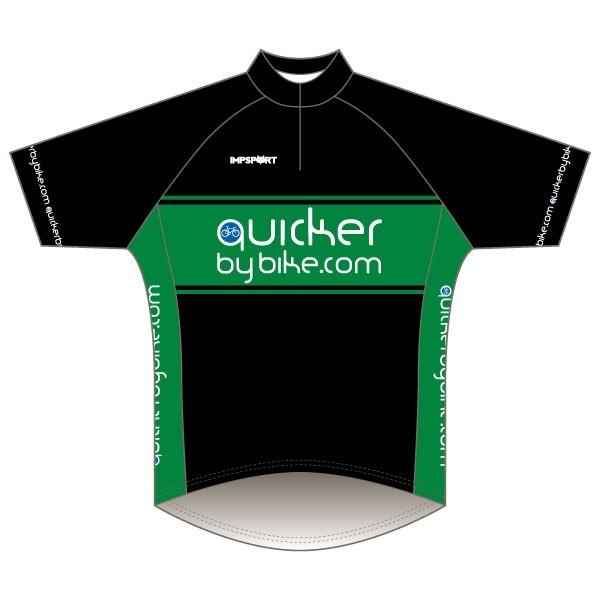 Quicker by Bike Short Sleeve Road Jersey