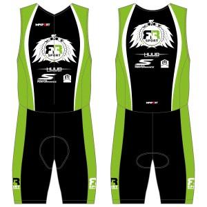 RnR Sport Men's Tri Suit - Front Zip -  With Mesh Pockets