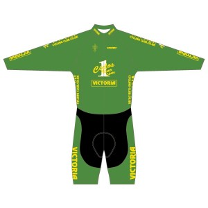 Victoria CC - Green Design Long Sleeved Twenty-Twelve Skinsuit