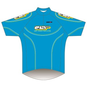 East London Triathletes Sky Cycling Kit Short Sleeved Road Jersey