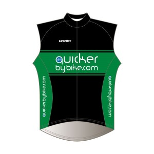 Quicker by Bike Windproof Gilet - Full Back