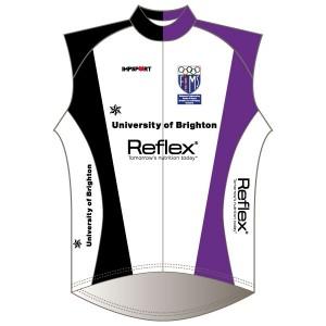University of Brighton Windproof Gilet - Full Back