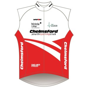 Chelmsford Youth Cycling Club Rain Gilet-Mesh Back
