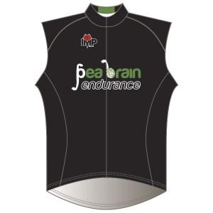 Pea Brain Endurance Rain Gilet-Mesh Back