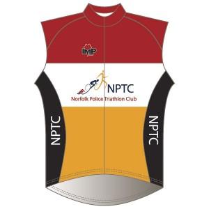 Norfolk Police Triathlon Club Rain Gilet-Mesh Back