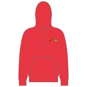 Washingborough Tennis Club Children's Hoodie - Red