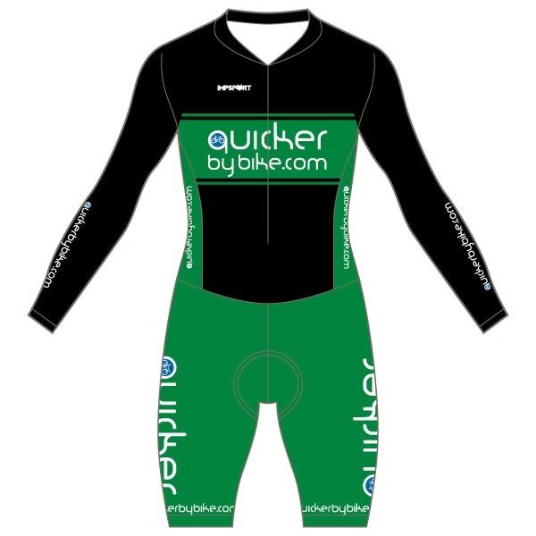 Quicker by Bike Custom Bodyfit Race Suit