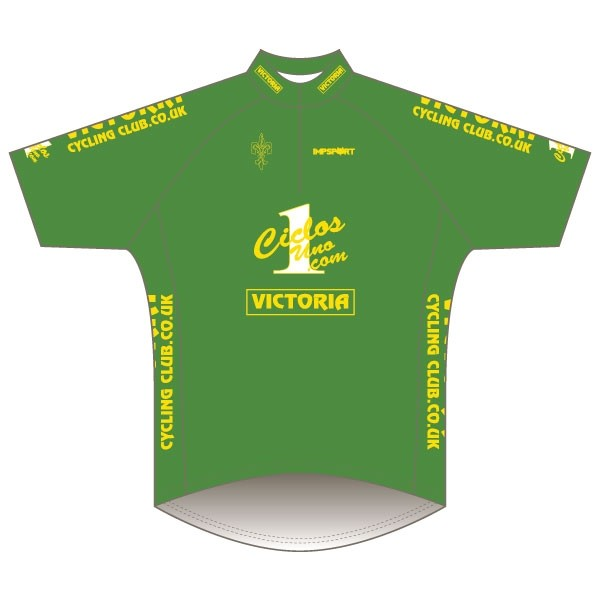 Victoria CC - Green Design Short Sleeve Road Jersey