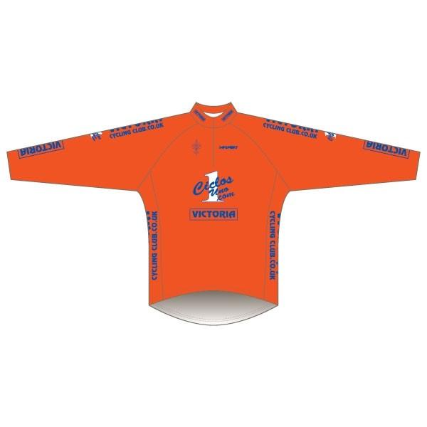 Victoria CC - Orange Design Long Sleeve Road Jersey