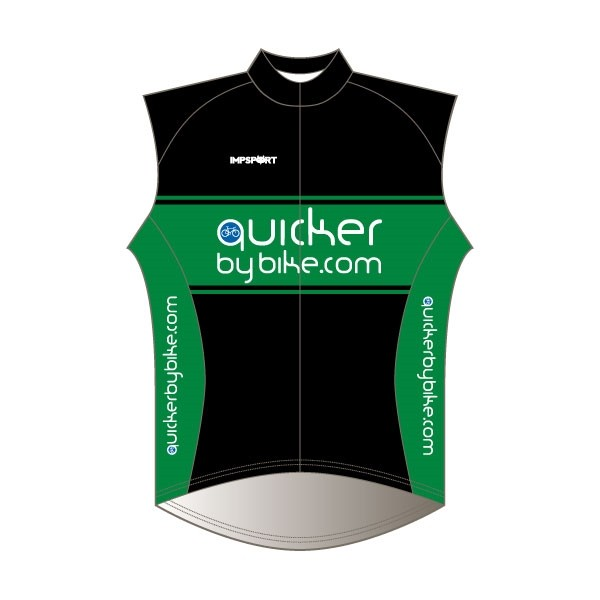 Quicker by Bike Rain Gilet - Full Back with Pockets