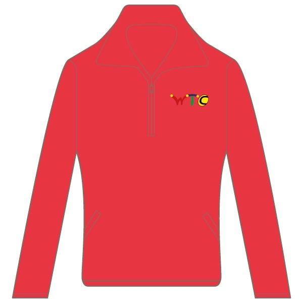 Washingborough Tennis Club Lady Fit Sweat Jacket - Red