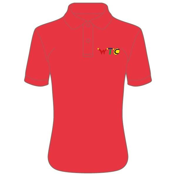 Washingborough Tennis Club Lady Fit Polo Shirt - Red or White