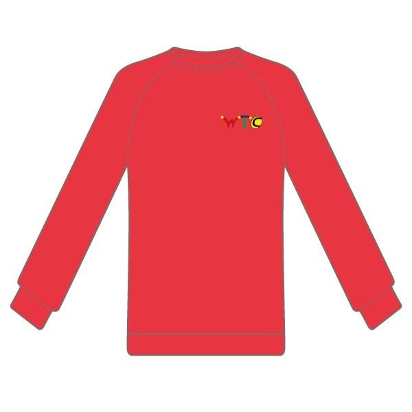 Washingborough Tennis Club Adult Sweatshirt - Red