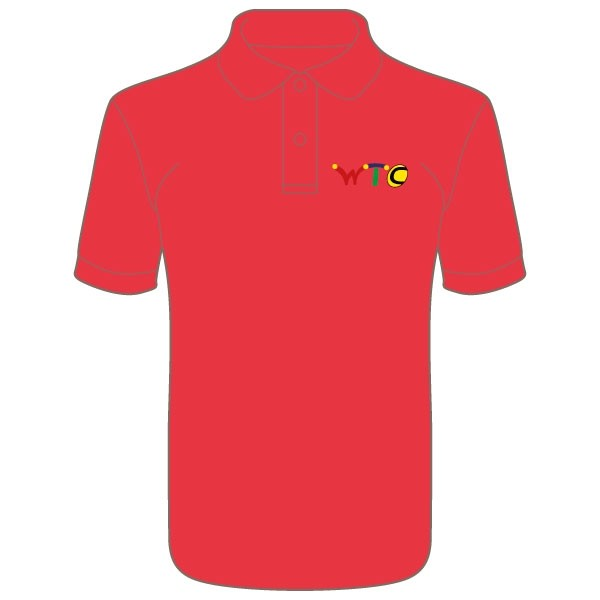 Washingborough Tennis Club Men's Polo Shirt - Red or White