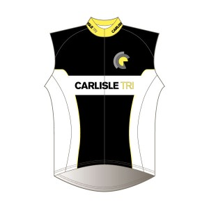 Carlisle Tri Junior Rain Gilet - Full Back with Pockets