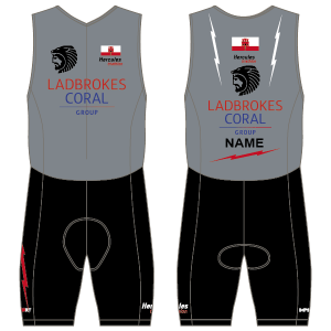 Gibraltar Triathlon Men's Tri Suit - Front Zip -  With Mesh Pockets