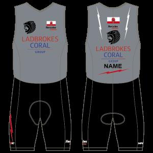 Gibraltar Triathlon Men's Tri Suit - Back Zip -  With Mesh Pockets