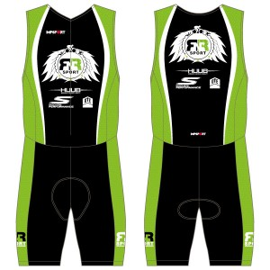 RnR Sport Men's Tri Suit - Back Zip - No Pockets