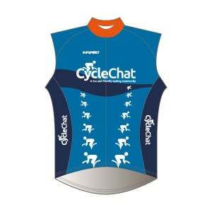 CycleChat Rain Gilet - Full Back with Pockets