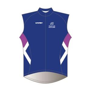 Triathlon Scotland Windproof Gilet - Full Back