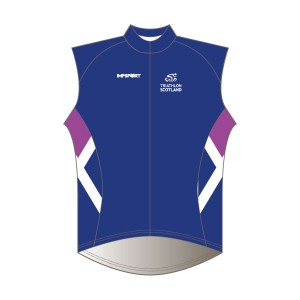 Triathlon Scotland Junior Rain Gilet - Full Back with Pockets