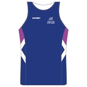 Triathlon Scotland Running Vest - Full Back