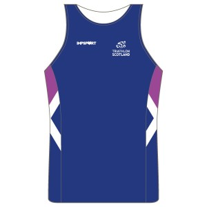 Triathlon Scotland Junior Running Vest - Full Back