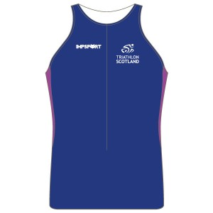 Triathlon Scotland Men's Tri Top - With Mesh Pockets