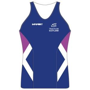 Triathlon Scotland Women's Tri Top - With Mesh Pockets
