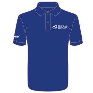 Triathlon Scotland Junior Cool Polo (Royal Blue)