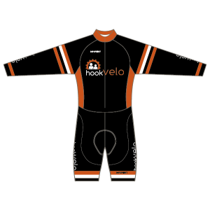 Hook Velo Orange T1 Skinsuit - Long Sleeved