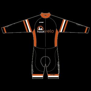 Hook Velo Orange T1 Skinsuit - Long Sleeved