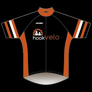 Hook Velo Orange T1 Road Jersey - Short Sleeved
