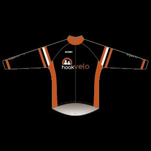 Hook Velo Orange T1 Road Jersey - Long Sleeved