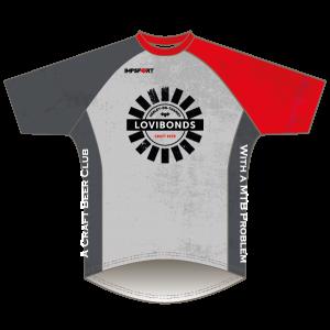 Lovibonds Brewery Grey Design Downhill Jersey - Short Sleeved