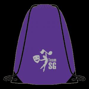 Sandy Gray School of Dance & Theatre Drawstring Bag (Purple)