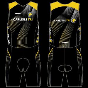 Carlisle Tri Mens Triathlon Suit - Front Zip + Mesh Pockets