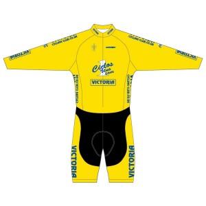 Victoria CC - Yellow Design Long Sleeved Twenty-Twelve Skinsuit