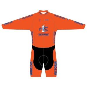 Victoria CC - Orange Design Long Sleeved Twenty-Twelve Skinsuit