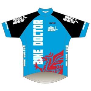 Bike Doctor - Blue Design Short Sleeve Road Jersey