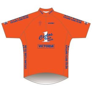 Victoria CC - Orange Design Short Sleeve Road Jersey