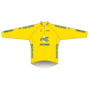 Victoria CC - Yellow Design Long Sleeve Road Jersey