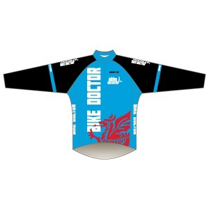 Bike Doctor - Blue Design Long Sleeve Road Jersey
