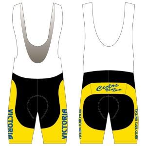 Victoria CC - Yellow Design Twenty-Twelve Bibshorts