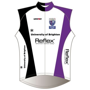 University of Brighton Windproof Gilet - Full Back