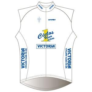 Victoria CC - White Design Rain Gilet-Mesh Back