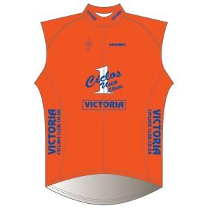 Victoria CC - Orange Design Rain Gilet-Mesh Back