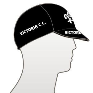 Victoria CC - Black Design Multi Panel Cycle Cap