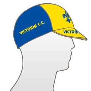 Victoria CC - Yellow Design Multi Panel Cycle Cap