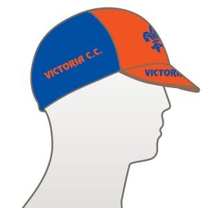 Victoria CC - Orange Design Multi Panel Cycle Cap
